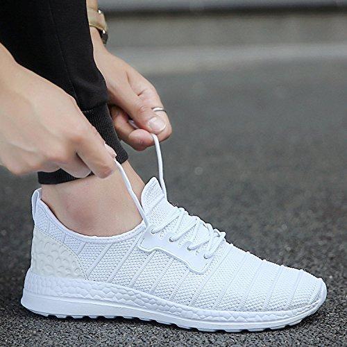 Chaussures Respirant Unisexe Facilement Couleurs 1 De 47 Blanc Joomra Course Maille 3 35 r6wrYSq