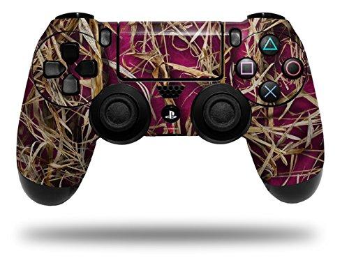 (Vinyl Skin Wrap for Sony PS4 Dualshock Controller WraptorCamo Grassy Marsh Camo Neon Fuchsia Hot Pink (CONTROLLER NOT INCLUDED))