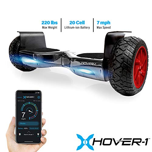Hover-1 Nomad Hoverboard All Terrain with 8.5 inch Off Road Tires Hoverboard with Bluetooth Speaker LED Lights App…