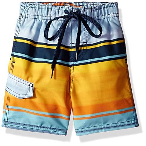 Kanu Surf Toddler Boys' Barracuda Quick Dry Beach Swim Trunk, Avalon Navy/Orange, 2T]()