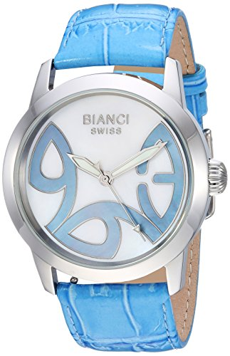 ROBERTO BIANCI WATCHES Women's Amadeus Stainless Steel Swiss-Quartz Watch with Patent Leather Strap, Blue, 21 (Model: RB18586)