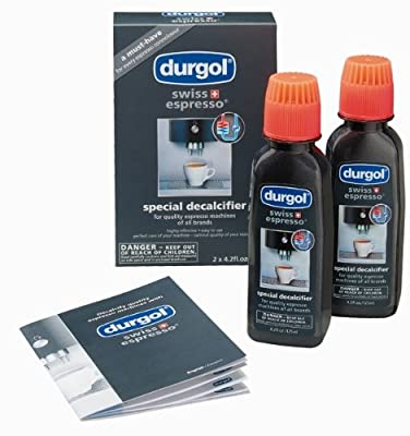 Durgol Descaler/Decalcifier for All Brands of Espresso (fully and semi-automatic) and Coffee Machines (pods, pads, manual, drip), 2 pack