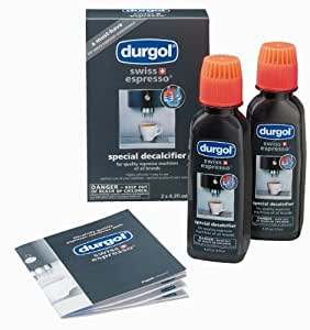 Durgol Swiss Espresso Decalcifier for All Brands of Espresso  (fully and semi-automatic) and Coffee Machines (pods, pads, manual, drip), 2 pack