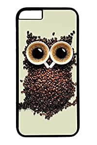 iPhone 6 Plus Case, Customized Slim Protective Hard PC Black Case Cover for Apple iPhone 6 Plus(5.5 inch)- Owl Creat