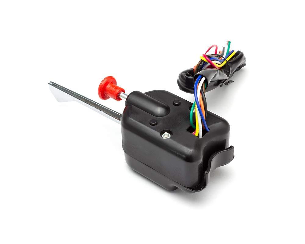 4X4 Negro para Furgoneta Intermitentes Columna Soporte Interruptor de Luces de Emergencia Colector Cami/ón Coche Indicador