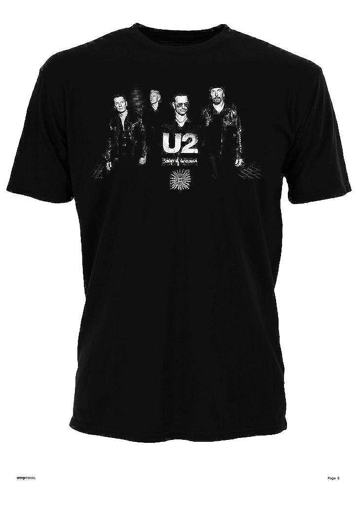 U2 Songs of Innocence Band Bono The Edge Rock Oficial Camiseta para Hombre (XX-Large): Amazon.es: Ropa y accesorios