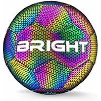 BRIGHT™ Lichtgevende Voetbal - Reflecterend - Holografisch - Glow in the Dark - Kinderen en Volwassenen - Unisex - Wit…