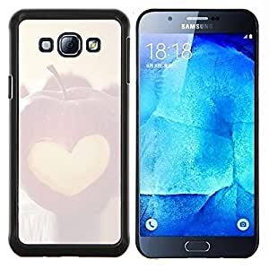 Stuss Case / Funda Carcasa protectora - Corazón de Apple minimalista - Samsung Galaxy A8 A8000