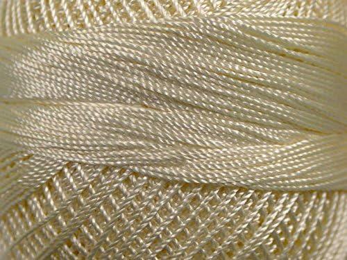Yarn Art Tulip Size 10 Microfiber Thread 50 Gram Light Beige