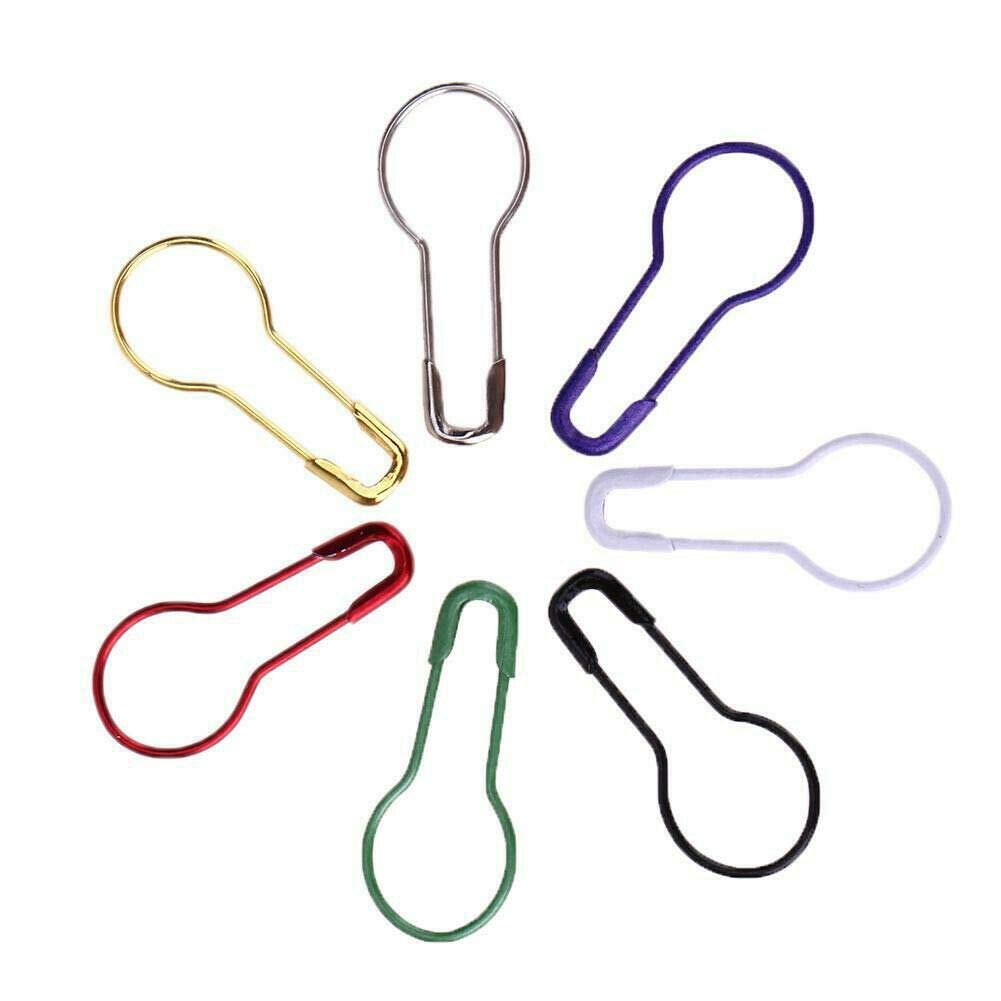 EULAGPRE 100pcs//pack Color Pins Gourd Shape Metal Clips Knitting Stitch Marker Tag Pins