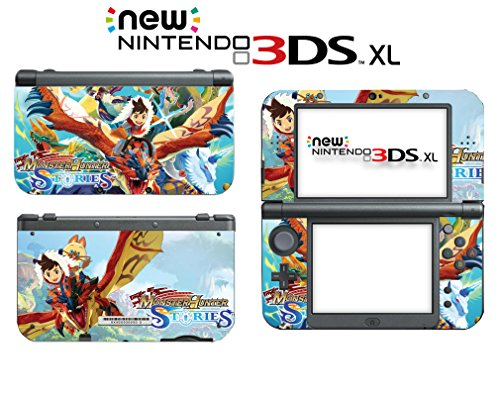 Monster Hunter Stories Lute Navirou Video Video Game Vinyl Decal Skin Sticker Cover for the New Nintendo 3DS XL LL 2015 System Console