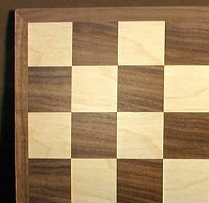 WW Ajedrez 95815 15 en. Walnut-Maple Tablero de ajedrez