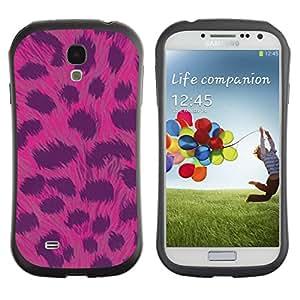 Fuerte Suave TPU GEL Caso Carcasa de Protección Funda para Samsung Galaxy S4 I9500 / Business Style Pattern Fur Pink Animal Black