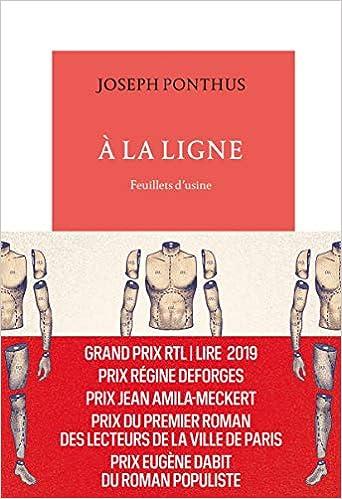 Amazon Fr A La Ligne Feuillets D Usine Joseph Ponthus