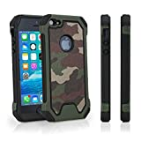 iPhone SE Case, BoxWave [CamoSuit] Camoflage Print Rugged Armor Shell Cover for Apple iPhone SE, 5s, 5 - Army Green