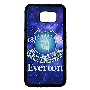 Samsung Galaxy S6 Case,Everton Football Club Logo Protective Phone Case Black Hard Plastic Case Cover For Samsung Galaxy S6