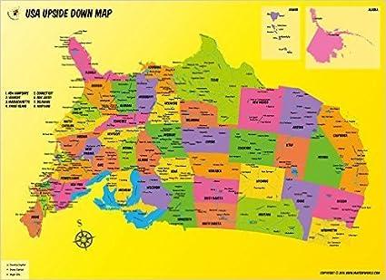 Amazon.com : USA Upside Down Map (36\