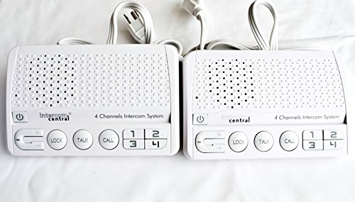 - Intercom Central GROUND wire Power-line 4 CHANNELS Intercom System, Two Stations Set.