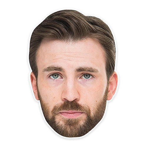 Bored Chris Evans Mask, Perfect for Halloween, Masquerades, Parties, Festivals, Concerts - Jumbo Size Waterproof -