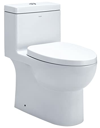 EAGO TB359 Dual Flush Eco Friendly Ceramic Toilet, 1 Piece