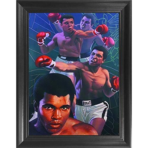 Muhammad Ali Boxing 3D Poster Wall Art Decor Framed Print | 14.5x18.5 | Lenticular Posters & Pictures | Memorabilia Gifts for Guys & Girls Bedroom | The Greatest Who Ever ()