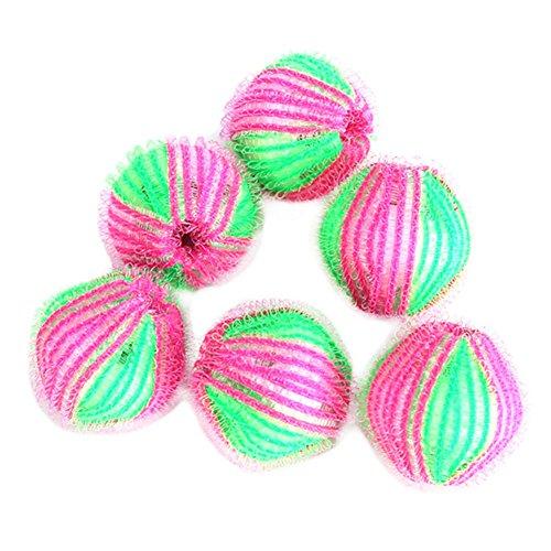 Oyfel 6x Cleaning Balls Magic Laundry Balls Hair Removal Washing Balls for Washing Machine