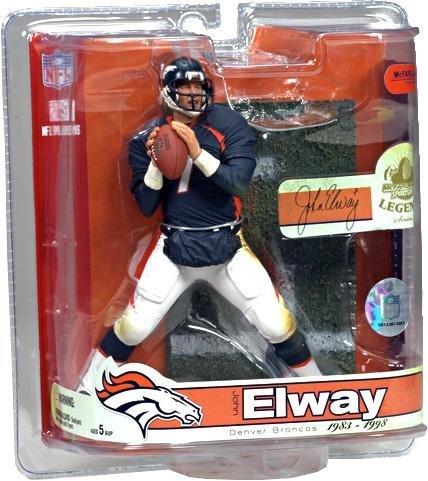 (Sports Picks JOHN ELWAY / DENVER BRONCOS McFarlane 6 Inch NFL LEGENDS SERIES 3 Action Figure)