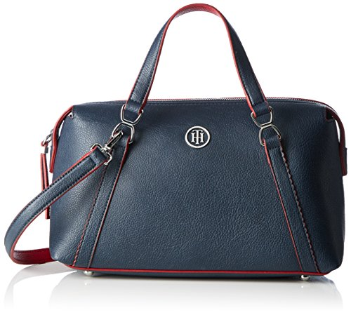 Tommy Hilfiger Fashion Novelty SC, Sac Femme, Multicolore (Midnight / Scooter Red), 12x17x32 cm