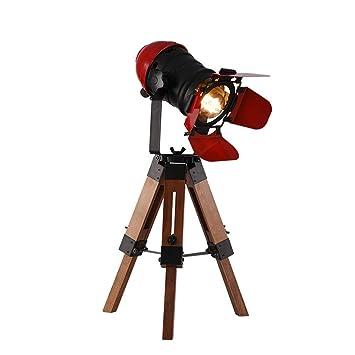 Mr. Fragile Lámpara de Mesa trípode LED, Foco Industrial de ...
