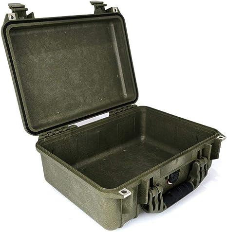 PELI 1450 Maleta protectora estanca de polipropileno para dispositivos electrónicos, cámaras, drones y más, IP67 estanca, 15L de capacidad, fabricada en Alemania, sin espuma, OD Green: Amazon.es: Electrónica
