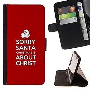 KingStore / Leather Etui en cuir / Apple Iphone 6 PLUS 5.5 / BIBLIA Navidad es Cristo