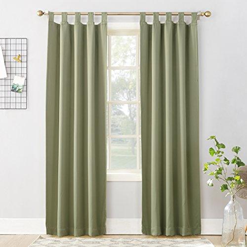 (Sun Zero Easton Blackout Energy Effcient Tab Top Curtain Panel, 40