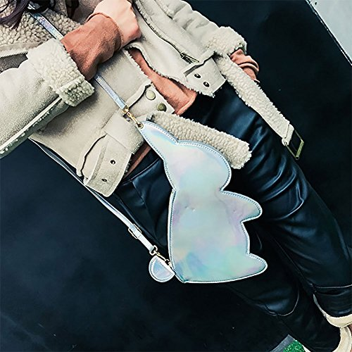 Handbag Fashion Shoulder Summer Rabbit Body Various Cute Silver Shaped Cystyle Cross Bag Animal 5EqFza5wx