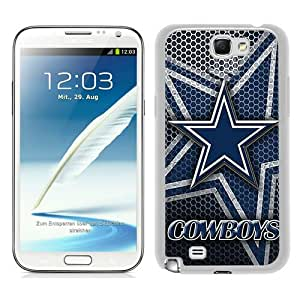 Dallas Cowboys 4 White Samsung Galaxy Note 2 N7100 Screen Phone Case Beautiful and Cool Design