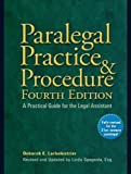 img - for Paralegal Practice & Procedure Fourth Edition: A Practical Guide for the Legal Assistant by Deborah E. Larbalestrier (2009-07-07) book / textbook / text book