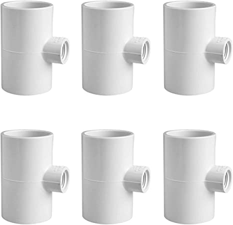RentACoop 4 Pack of Auto-Fill Watering Cups with Four Pack of Tees Fittings for 1//2 PVC Piping