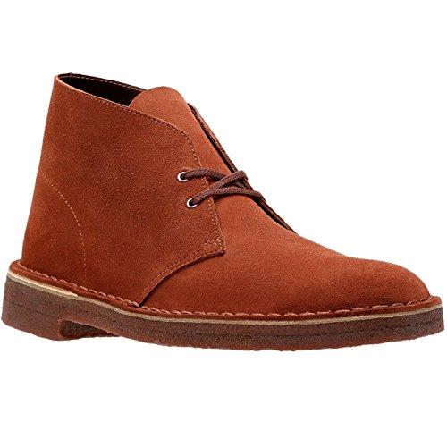 (CLARKS Originals Mens Desert Mahogany Suede Boots 42)