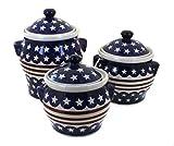 Polish Pottery Stars & Stripes Canister Set