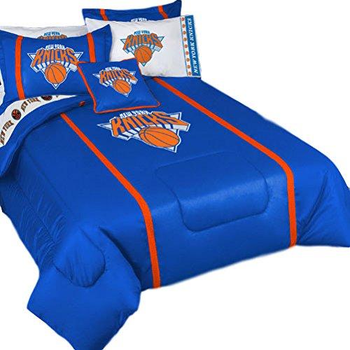NBA New York Knicks Sidelines Queen Bed Comforter Sheets (Comforter Sideline Queen)
