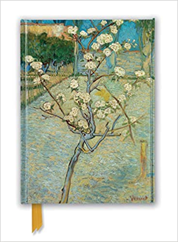 vincent van gogh small pear tree in blossom foiled journal flame tree notebooks