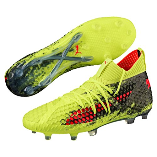 PUMA Men's Future 18.1 Netfit FG/AG Soccer Cleats Yellow - Red - Black sale shop offer how much cheap price marketable cheap price discount codes really cheap hOURZ