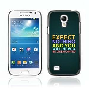 Designer Depo Hard Protection Case for Samsung Galaxy S4 Mini / Interesting Message Quote