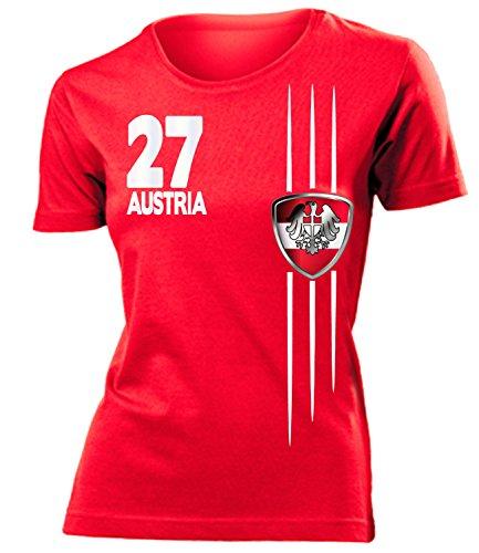 coppa del Mondo - Campionati Europei ÖSTERREICH mujer camiseta Tamaño S to XXL varios colores Rojo