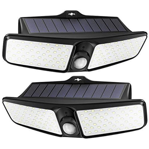 chollos oferta descuentos barato LITOM Luz Solar de Exterior 100 LEDs Actualizado PIR ON OFF Automático IP65 Impermeable Fácil de Instalar