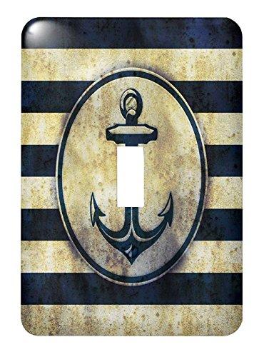 3dRose LSP 217229_ 1diseño de Grunge de mar del ancla náutica–individual interruptor de palanca