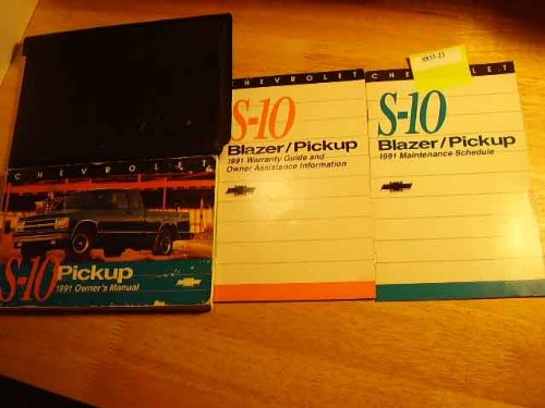 1991 Chevrolet S10 Blazer S-10 Owners Manual