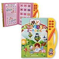 Pasaca Toys Kids Learning Book, E-Book with 6 Learning Game, Learning ABC, Spelling (Yellow)
