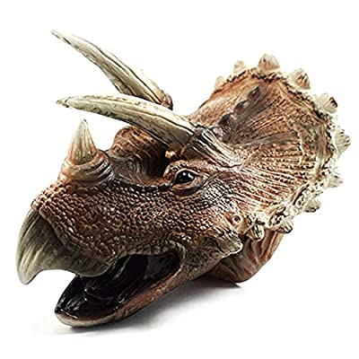 Bandi Toys Dinosaur Hand Puppet for Kids Soft Rubber Realistic Triceratops Head Hand Puppets: Toys & Games