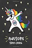 Awesome Since 2006: Dabbing Unicorn Journal for 12 year old, Cute Happy Birthday 12 Years Old Dab Unicorn Journal Notebook for Kids, Birthday Unicorn ... Pages 12th Year Old Birthday Gift for Girls!
