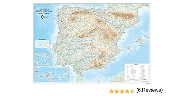 Mapa Mural Fisico España Y Portugal (tubo) (98x70): Amazon.es: Aa ...